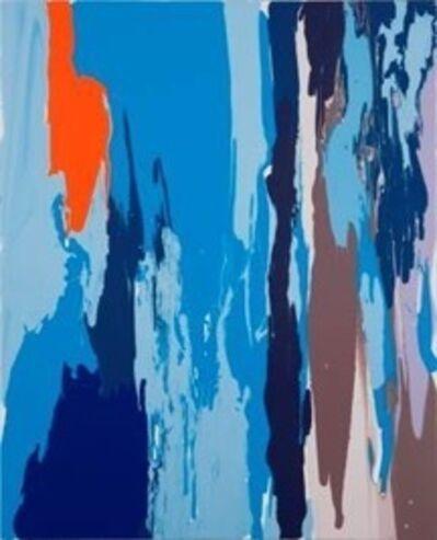 Leah Durner, 'darkbluelightbluebrownbeigeorange pour', 2012