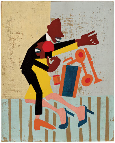 William Henry Johnson, 'Jitterbugs (II)', ca. 1941