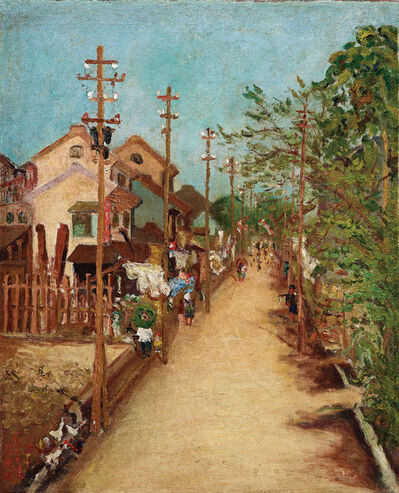Chen Cheng-Po 陳澄波, 'Outside Chiayi Street (2)', 1927