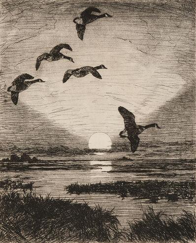 Frank Weston Benson, 'November Moon', 1931