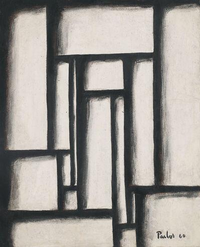 Manuel Pailós, 'Constructivo en blanco y negro', 1960