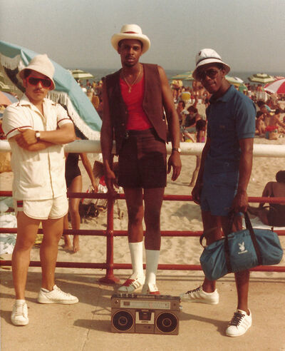 Jamel Shabazz, '3 Males at the Beach', 1980