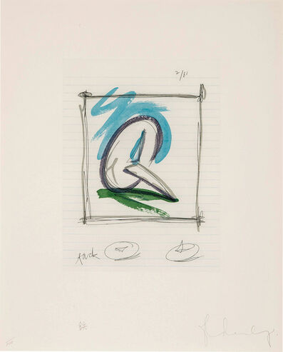 Claes Oldenburg, 'Sketch for a Sculpture in the form of a Steel Tack', 1981