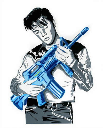 Mr. Brainwash, 'DON'T BE CRUEL (BLUE)', 2008