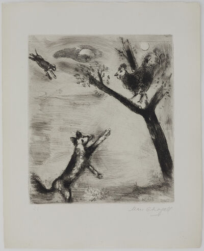 Marc Chagall, 'The Cock and the Fox', 1927-1930