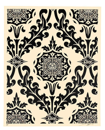 Shepard Fairey (OBEY), 'PARLOR PRINT (Artist Proof Black & Cream)', 2010