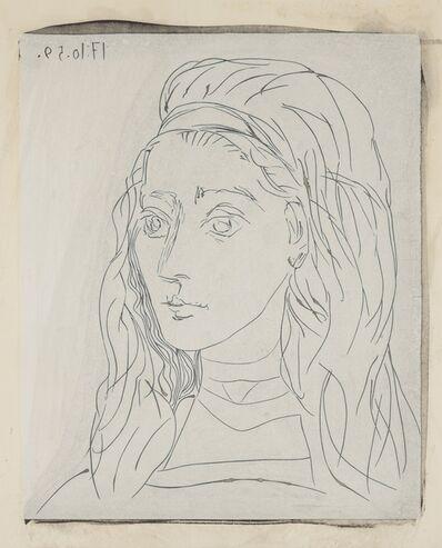 Pablo Picasso, 'Portrait de Jacqueline', 1963