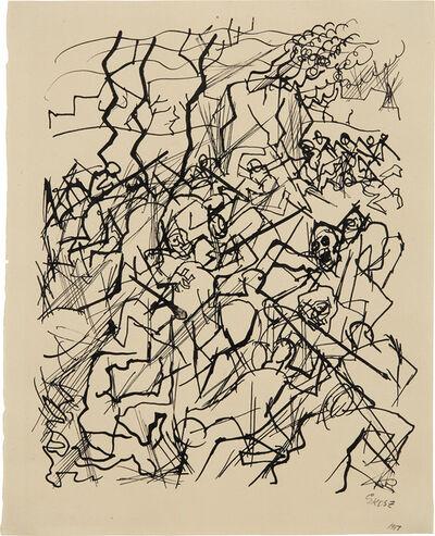 George Grosz, 'Krieg Tumult', 1914