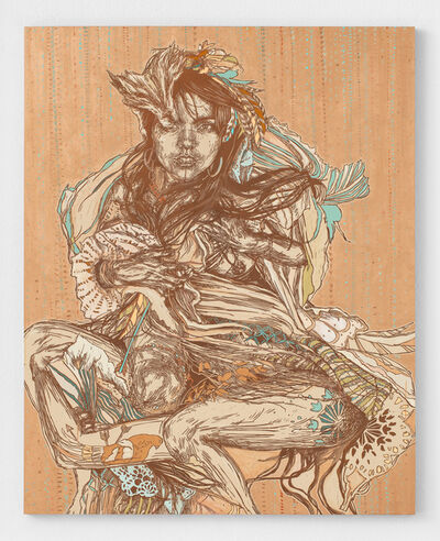 Swoon, 'Monica', 2019
