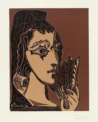 Pablo Picasso, 'Portrait de Jacqueline en Carmen (L'Espagnole)', 1962
