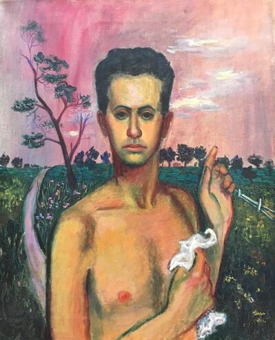 Alvin Ross, 'Self Portrait with Pink Sky', ca. 1942