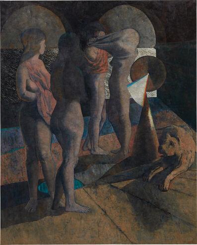 Armando Morales, 'Four Bathers and a Dog', 1987