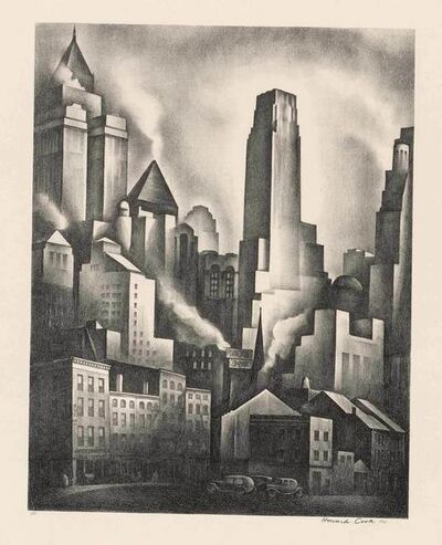Howard Cook, 'Financial District (D. 155)', 1931