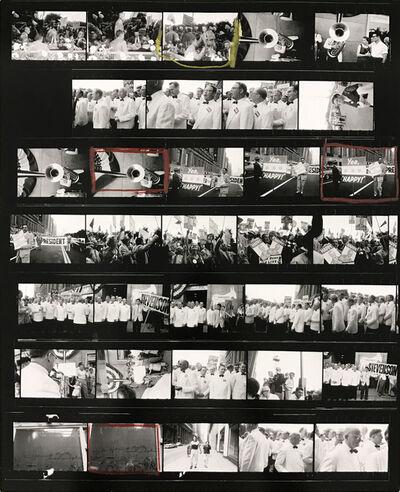 Robert Frank, 'Contact Sheet #57 (Political Rally, Chicago)', 2009