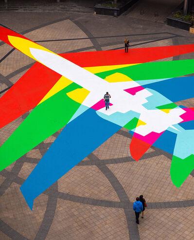 James Bridle, 'Rainbow Plane 002', 2014