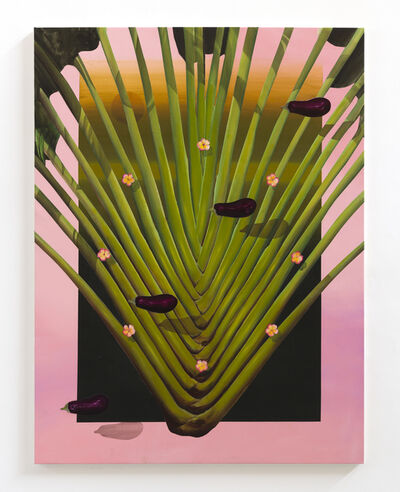 Bruno Novelli, 'Diagonal com beringelas ', 2017