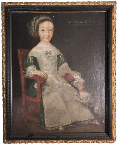 Unknown Flemish, 'Girl in Chair', 1594