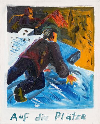 Jörg Immendorff, 'Auf die Plätze', 1981
