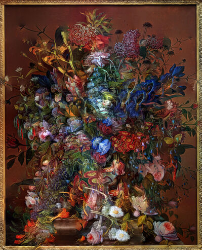 Abelardo Morell, 'Flowers for Lisa # 5 / Composite Picture of Flower Painting', 2014