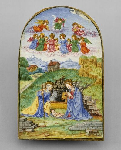 'Pax with a Miniature of the Nativity', ca. 1480 (pax frame); c. 1850/1875 (miniature)