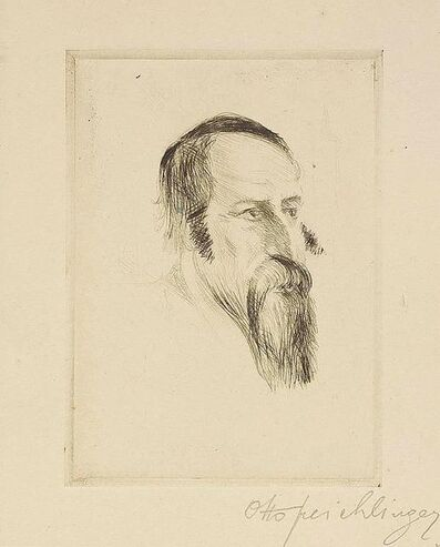 Otto Freichlinger, 'Rabbi (Study), Etching on Paper', Early 20th Century