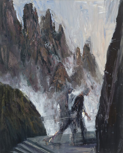 Euan Macleod, 'Figures & Mountains in mist', 2016