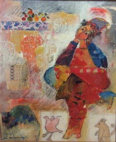 Yoël Benharrouche, 'La passion de l' homme le conduit parfois a des couleurs qu' il ne connait pas mais qui procurent le bien etre', ca. 1985