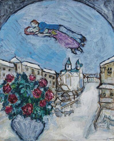 Marc Chagall, 'Amoureux dans le Ciel ou Village Enneigé (Vitebsk)', 1928-1930