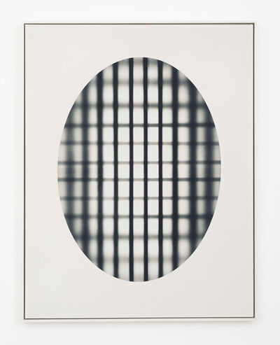 John Opera, 'Oval With Grid (black)', 2017