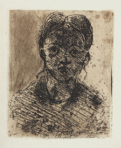 Paul Cézanne, 'Head of a Young Girl.', 1873