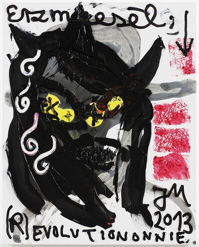 Jonathan Meese, 'DREIMAL SCHWARZER PETER DE MIAU (FINANZIER' ALLES),', 2013