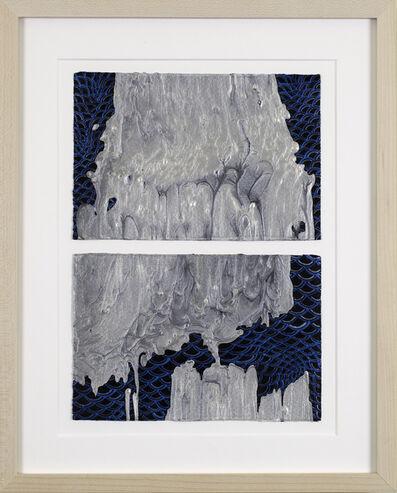 Barbara Takenaga, 'Untitled (pearl white with waves 1 and 2)', 2019