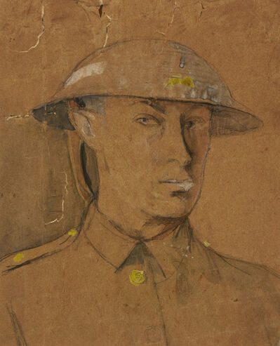 Isaac Rosenberg, 'Self-Portrait in Steel Helmet', 1916