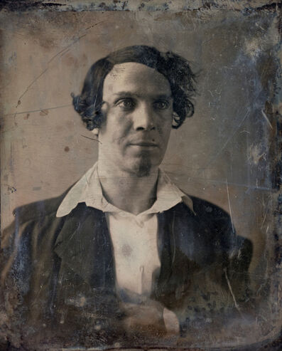 Michael Huey, 'Unknown Man (no. 1), Based on a damaged 1850s/60s Daguerreotype by Mathew Brady', 2019