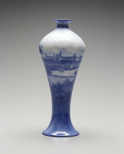 Leonard Bentley, 'Vase with scene of Farm Cove and the Garden Palace, Sydney', 1882