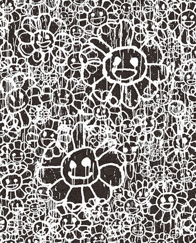 Takashi Murakami, 'FLOWERS A BLACK BY MADSAKI X TAKASHI MURAKAMI', 2017