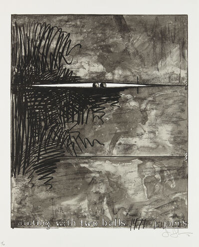 Jasper Johns, 'Painting with Two Balls (Grays)', 1971