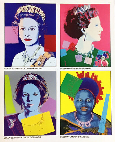Andy Warhol, 'Warhol Reigning Queens (Castelli announcement)', 1985