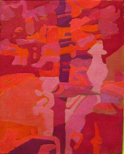 Ralph Wickiser, 'Red Stream', 1977