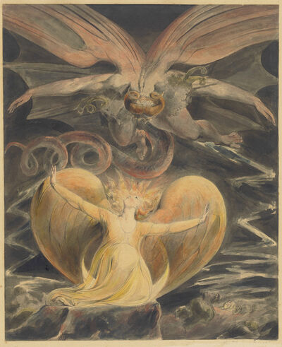 William Blake, 'The Great Red Dragon and the Woman Clothed with the Sun', 1805