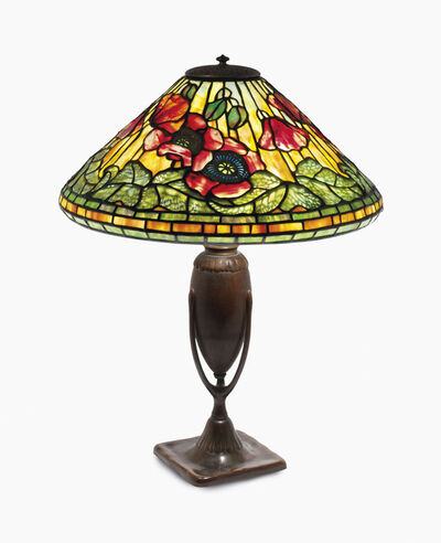 Tiffany Studios, 'A 'Poppy' Table Lamp', circa 1905-1910