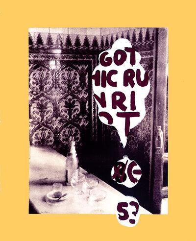 Julian Schnabel, 'Gothic Run Riot ', 1990