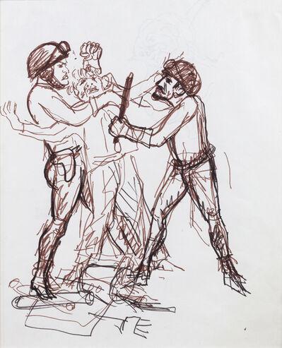 """Antonio Berni, 'Sin Título (Represión). De la serie """"Mayo del 68, París"""".', ca. 1968"""