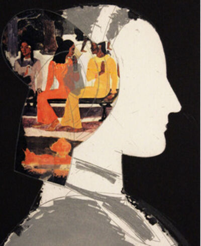 Manolo Valdés, 'Chiara I with Gauguin Collage', 2003
