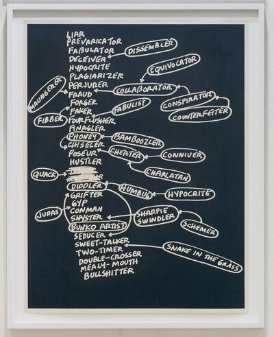 Mel Bochner, 'Liar', 2010