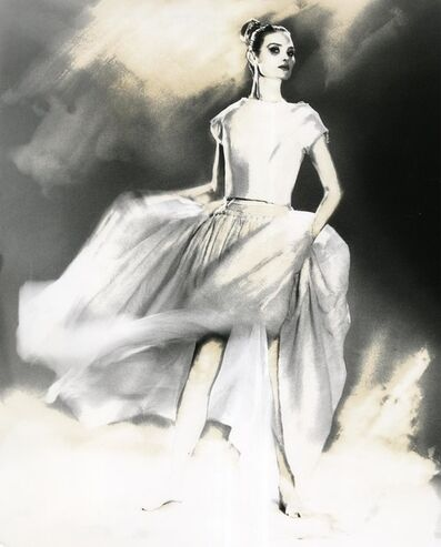 Lillian Bassman, 'In Full Swing, Shalom Harlow, skirt and sweater by Oscar de la Renta', 1998