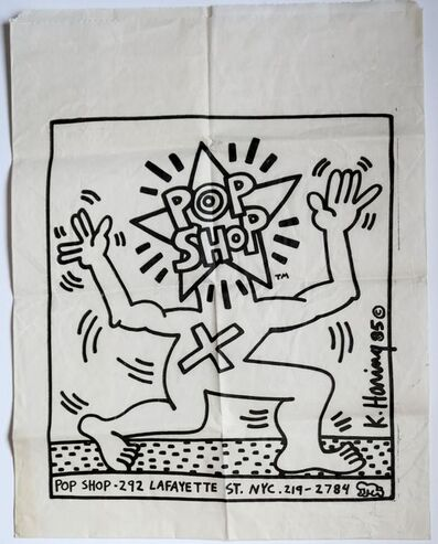 Keith Haring, 'Pop Shop shopping bag', 1986