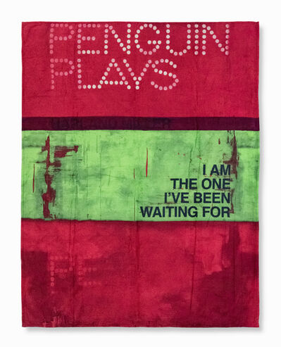 Harland Miller, 'I Am The One I've Been Waiting For (Beach Towel)', 2013
