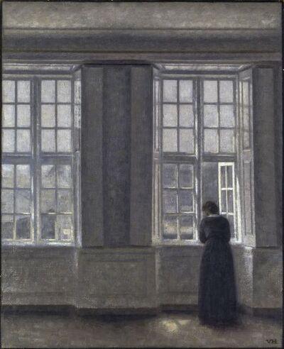 Vilhelm Hammershøi, 'The Tall Windows', 1913