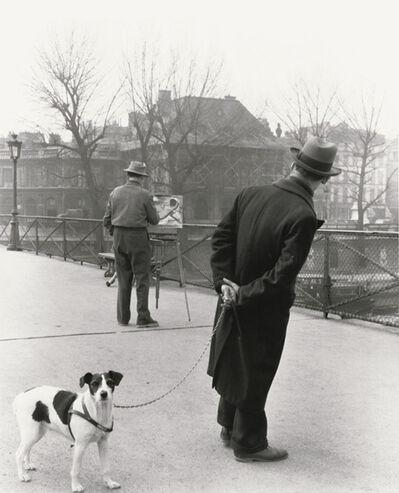 Robert Doisneau, 'Fox Terrier on the Pont des Arts', 1953/1980c